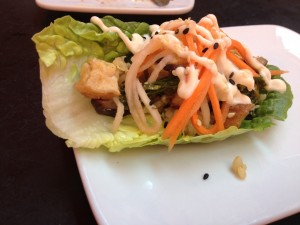 Korean Bibimbap Lettuce Wrap